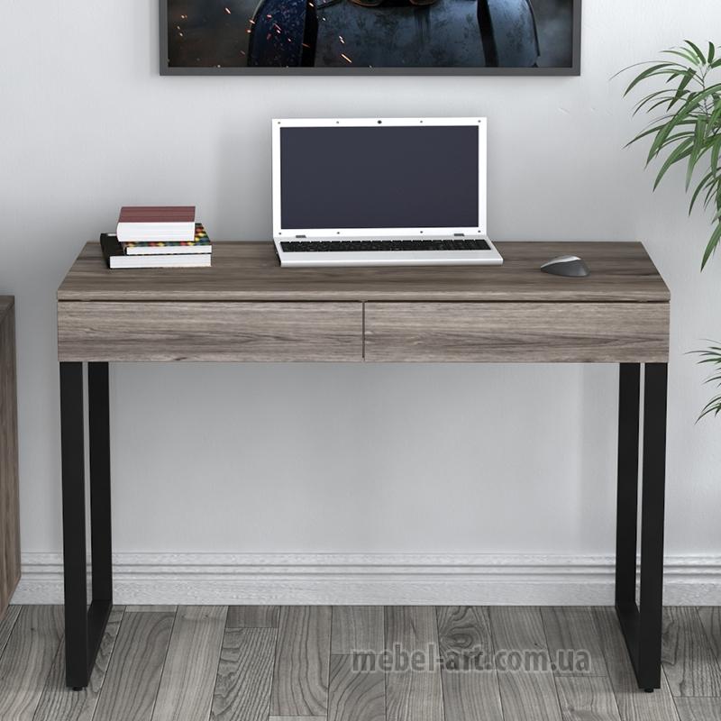 современный прямой офисный стол в стиле Loft Design, цвет Борос светлый