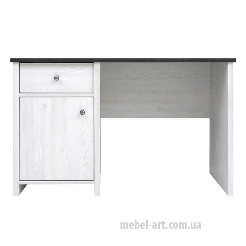 стильный письменный стол, цвет сосна Ларико / Джанни, тип прямой, есть выдвижной ящик и закрытое отделение с полкой