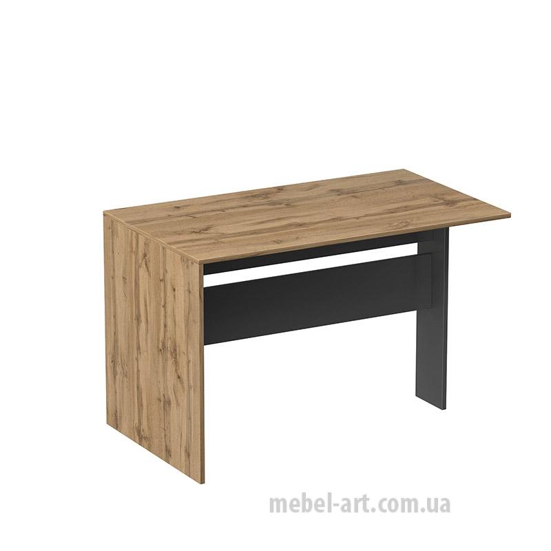 стол приставной офисный прямой, цвет Мангровое дерево / графит