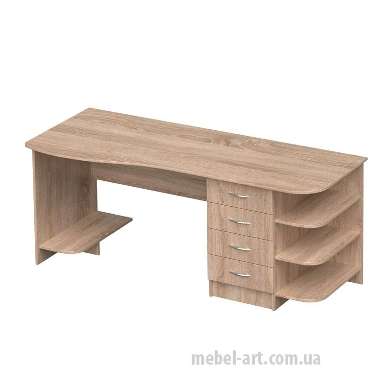 офисный стол с полкой для системного блока