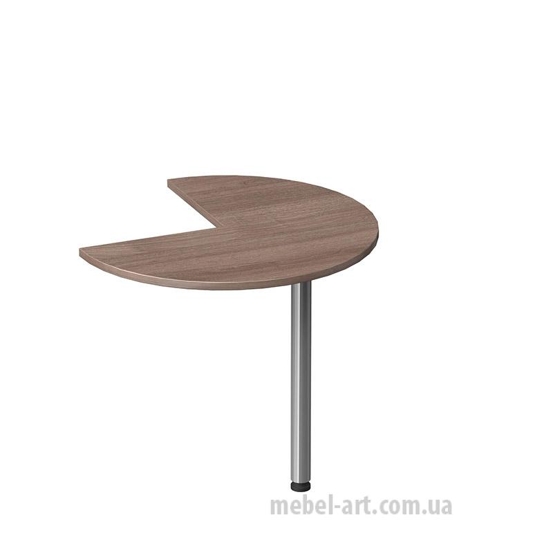 полукруглый компактный приставной стол